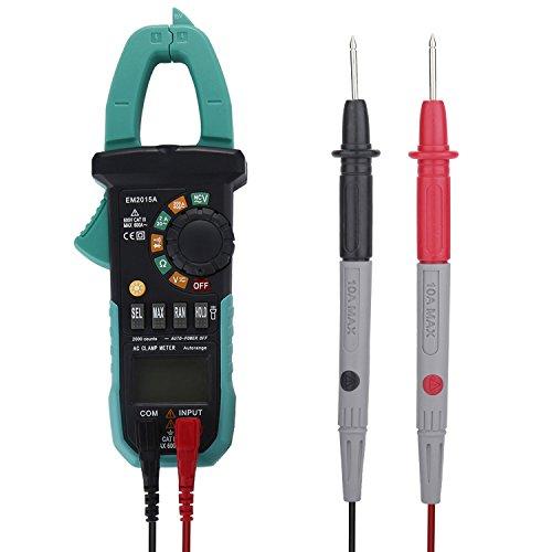 Sincewe EM2015A Pinza Amperometrica Avanzata Multimetro Digitale Auto Range 6000 Conti Tester di Tensione AC / DC 600V, Corrente AC 600A, Resistenza, Capacità, Continuità, Frequenza, Diodi