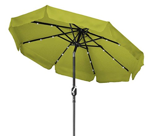 Trademark Innovations Deluxe Solar Powered LED Lighted Patio Umbrella...
