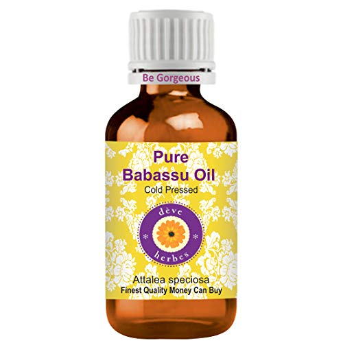 Deve Herbes Pure Babassu Oil (Attalea speciosa) 100% natural grado terapéutico planchado en frío 15ml (0.50 oz)