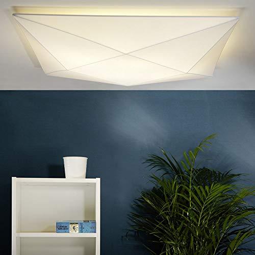 Olé By Fm Iluminación - Plafon De Techo Polaris 4 x E27 Tela Elastica 80 x 80