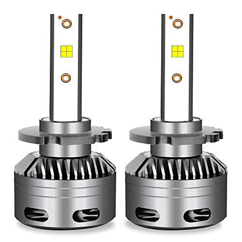 Kit phare F35B LED H1 / H3, 12 ampoules halogènes de rechange en aluminium de rechange 24V 6000ML, rouge et blanc, 2 pièces,9012