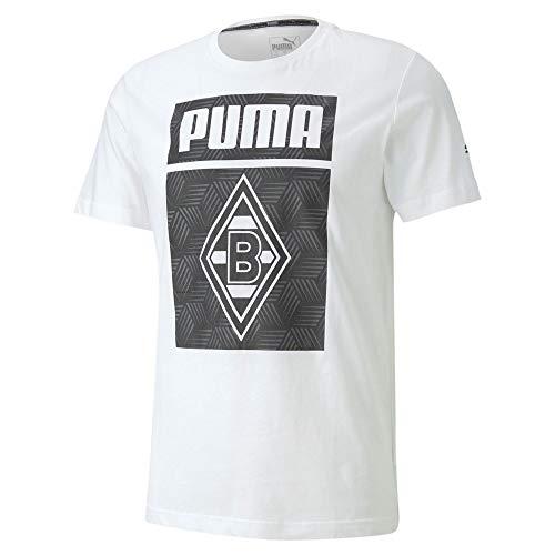 PUMA Herren BMG ftblCORE Graphic Tee T-Shirt, White Black, M
