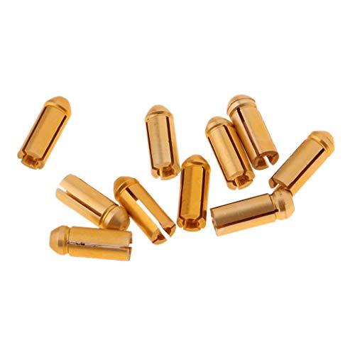 perfk 10 Stück Dart Flight-Schutz Aluminium Dart Flyschutz Gold