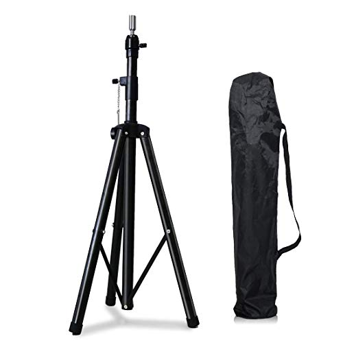 YEBO Mannequin Stand Adjustable Hair Stand Metal Wig Tripod Stand for Canvas Wig Head Stand with Carry Bag