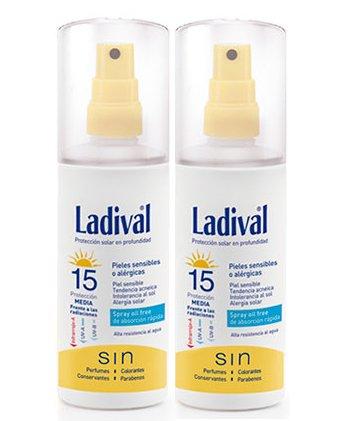 LADIVAL allergische Spray Oil Free SPF15150ml (2Stück) speziell für: empfindliche Haut oder, Felle acnéicas, Intoleranz Sonne, Allergie Solar.