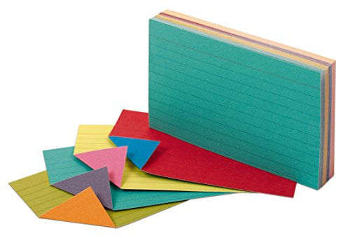 Oxford Extreme Index Cards, 3 x 5 Inches, Assorted Colors, 100 per pack (04736)