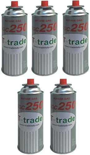 ALTIGASI 5 Stück - Gaskartusche GPL 250 g Art. KCG250 Ideal zum Schweißen oder Backofen, geeignet für CAMPINGAZ cp250 Brunner