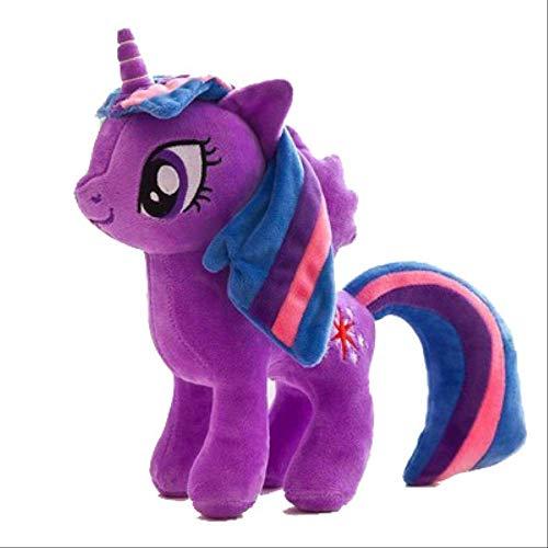 N|A My Little Pony Anime Rainbow Horse Cute Pony Peluche Ripiene Twilight Sparkle Rainbow Dash Doll Push Toys Kids Gift 40cm