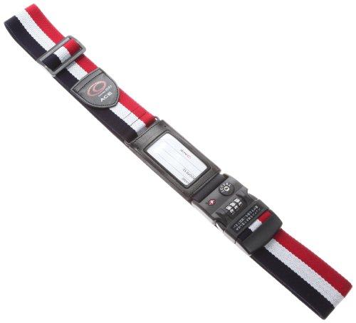 [タビトモ] スーツケースベルト TSAロック付 195cm 品番32567 195 cm 0.2kg マルチストライプ(ホワイト)