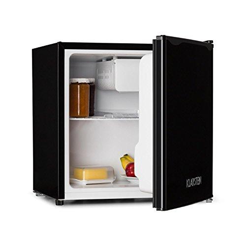 Klarstein KS50-A - Minibar, Mini Nevera, Nevera para Bebidas, A +, 40 L, 47 x 49,5 x 44,4 cm, Silenciosa, 1 Balda, Compartimento en Puerta, Mini congelador con Bandeja antigoteo, Negro