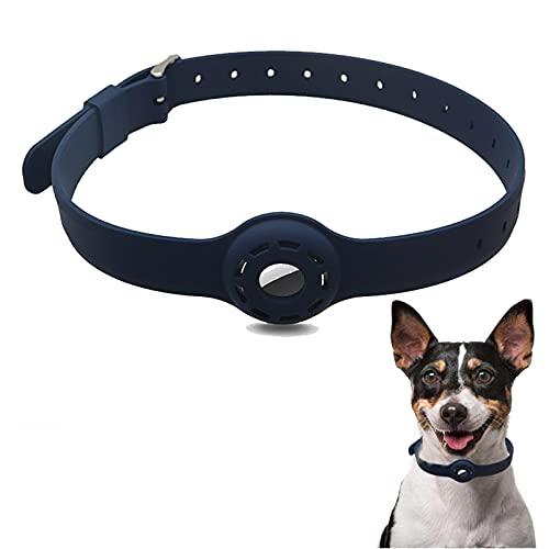 SJHY AIRTAG Funda Protectora De Silicona para La Cubierta Protectora del Cuello De Perro De Apple Airtag para La Cubierta del Cuello De Perro Bucle GPS Finder,Azul