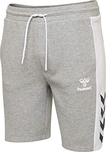 hummel Herren HMLMASON Shorts, Grau Melange, 2XL