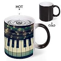 Discoloration Mug 音符 Music カップルの誕生日プレゼント