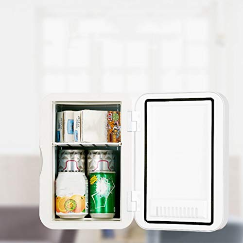 MUMUMI Ahorro de Energía 6L Silencioso Mini Refrigerador Refrigerador Y Calmado; Blanco