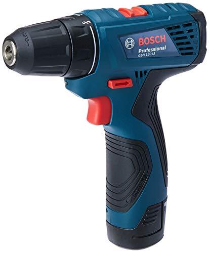 Parafusadeira / Furadeira a Bateria GSR 120-LI 12V + Maleta, Bosch 06019F70E0-000, Azul