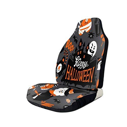 Jeffrey Toynbee Happy-Halloween Niedlicher Autositzbezug Autokissenbezug Kompatibel mit den meisten Auto Mode Auto Interieur Zubehör Sitzbezug