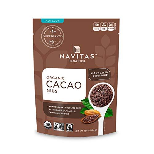 Navitas Organics Cacao Nibs, 16 oz. Bag, 15 Servings — Organic, Non-GMO, Fair Trade, Gluten-Free