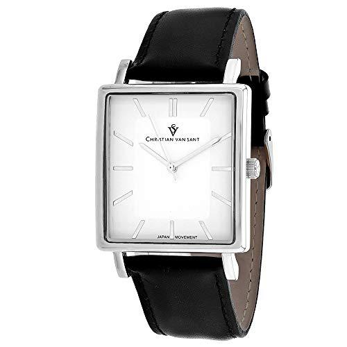 Christian Van Sant Ace CV0430 - Reloj casual para hombre, cuarzo, acero inoxidable, color negro
