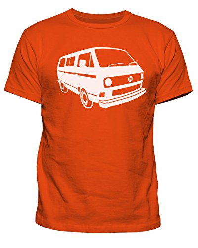 Herren-T-Shirt VW Campervan T25 Camper Retro Camp Van Volkswagen Top T-Shirt New S-XXL Gr. M, Orange