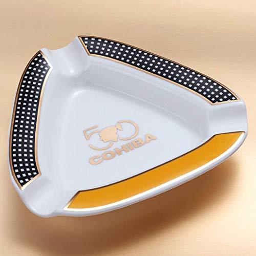 AMITD Keramiek driehoek sigaar asbak 5 asbak draagbare sigarettenschaal voor binnen en buiten