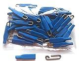 Enganches rápidos Pesca,100 UND de Varilla Acero Inoxidable de 1,2mm Extra Fuertes, Muy Cortos, 11mm x 3mm, Color Azul, Grapas , Ganchos, Conector Pesca.
