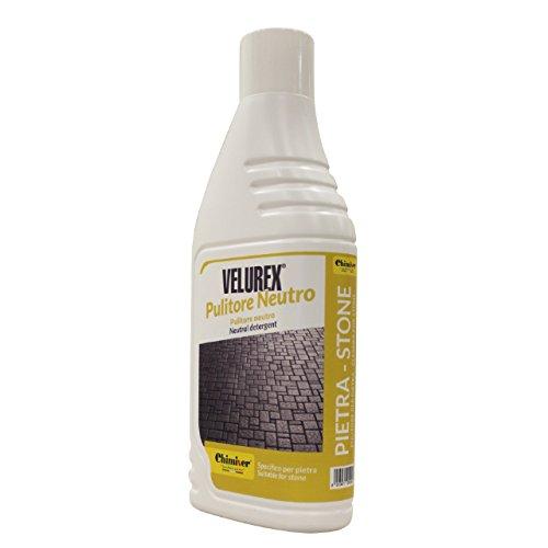Chimiver - VELUREX PULITORE NEUTRO | Détergent neutre multiusage pour le nettoyage de sols en pierre. Bouteille de 1L