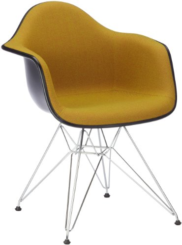 Vitra 4401610003950105Silla Dar Eames Plastic Arm Chair (con vollp.hopsak I. AVO/Cog) Basic Dark