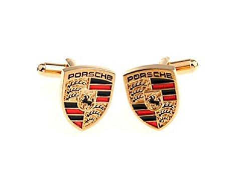 Schmuck Herren Manschettenknöpfe NEU Gold Porsche