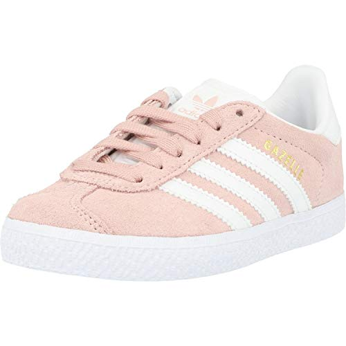 Adidas Gazelle C, Sneaker, Rosa Icey Pink F17 FTWR White Gold Met, 30 EU