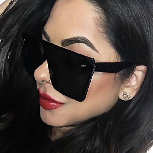Fashion Oversized Square Sunglasses Retro Gradient Big Frame Sun Glasses For Women (Leopard Brown)