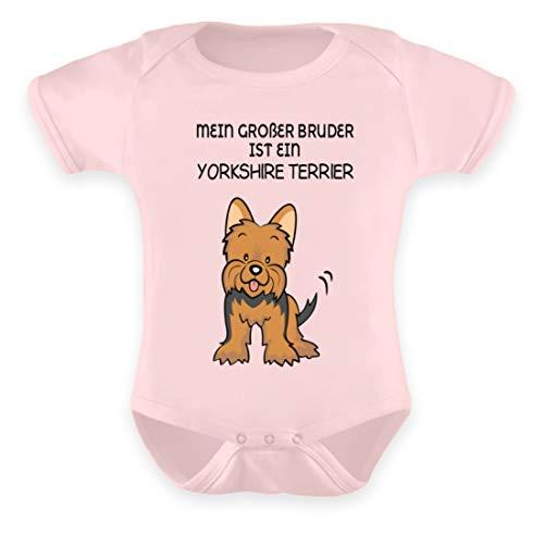Galeriemode Body para bebé, diseño de Yorkshire Terrier Polvo rosa. 6-12 Meses
