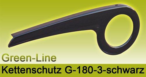 DEKAFORM Fahrrad Kettenschutz Green-Line 180-3 für 36/38 Zähne * schwarz