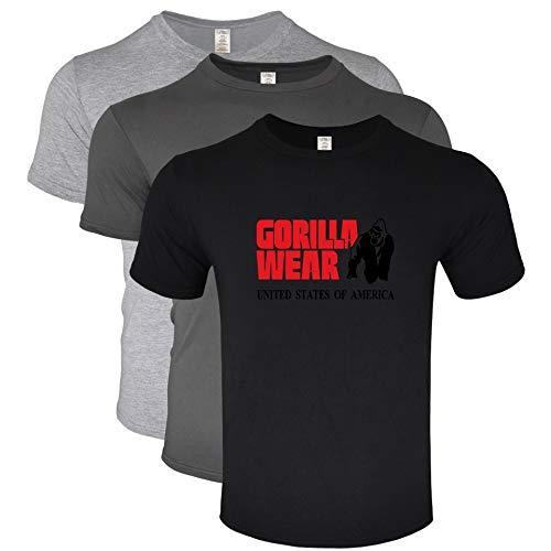 Li Long 3-Piezas Traje, Ropa de Hombre Camiseta Ebay Masculina Desgaste del Gorila Camiseta Impresa de los Hombres (Color : 6, Size : XL)