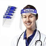 5 PCS Pantalla de Protección Facial, transparente, antigotas, a prueba de polvo, protección de la cubierta, fácil de limpiar, la película protectora debe ser despegada.