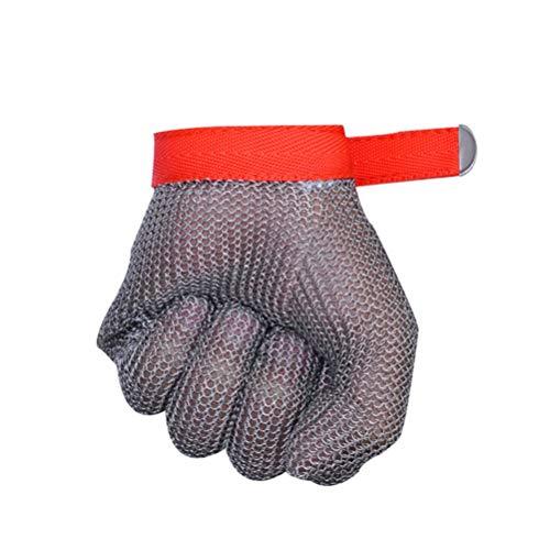 Schnittfeste Handschuhe-XHZ 1 Anti-Cutting Handschuh Edelstahl Grade 5 Stahl draht Anti-Cutting Handschuh Stahl Draht Ring Eisen Hand Anti-Cutting Hand (Size : Small)