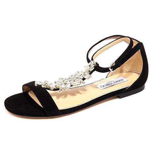 JIMMY CHOO F9450 Sandalo gioiello Donna Black Averie Jeweled Sandal Woman [36.5]