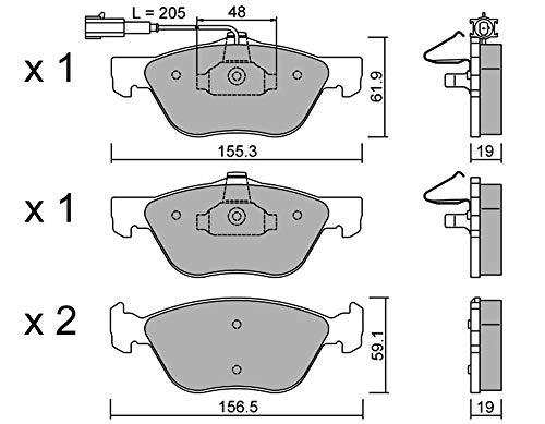 metelligroup 22-0083-2 Bremsbeläge Vorne und Hinten, Made in Italy, Ersatzteile für Autos, ECE R90-zertifiziert, Kupferfrei