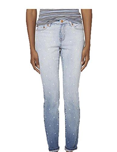 ROEBUCK & CO R1893 Womens Dot Print Skinny Blue Jeggings Jeans Sizes 4 12 14 NWT