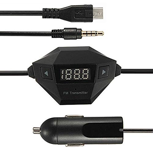 WZhen cargador micro del coche del Usb del transmisor de 3.5Mm Fm para la galaxia Iphone6 de Samsung