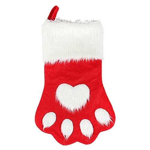 xMxRing Medias de Navidad Calcetín de Navidad Mascota de la Pata de Navidad Stocking Regalo del Partido del Árbol...