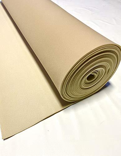 Lt Tan 72' Long X 60' Wide Headliner 3/16 Foam Backed Fabric Material