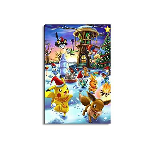 Cartes pokémon Calendrier de l'Avent AnimePoster Peinture Décorative Toile Art Mural Salon Chambre Peinture