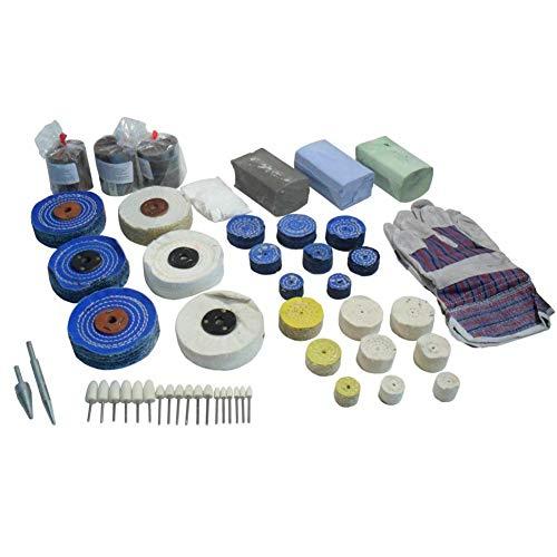 Poliermop Set aus Metall, 52 Stück, Stahl, Aluminium, Kupfer, Messing POL04
