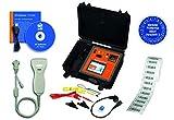 HT-Instruments MultiTest HT700+ Set BGV A3-Probador Etiquetas de Prueba, Incluye escáner de códigos de Barras