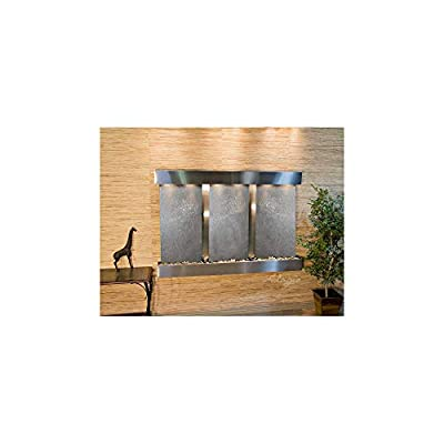 Olympus Falls Water Feature with Stainless Steel Trim and Square Edges