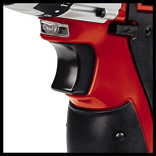 Einhell TC-CD 12 Li - Taladro atornillador 12 V sin Cable con Cabezal Extraible, 2 velocidades, con cargador, batería 1.3 Ah, mandril portabrocas desmontable, luz LED y maletín