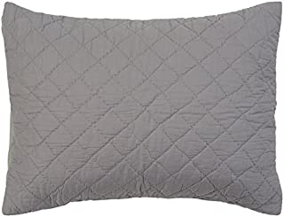 Rizzy Home Andrew Charles Collection King Sham (1), Solid Patterned, Grey