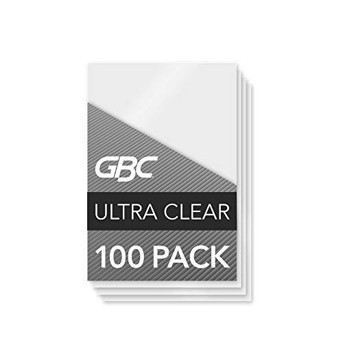 Swingline GBC Laminating Sheets, Thermal Laminating Speed Pouches, Badge Size, 7 Mil, HeatSeal UltraClear, 100 Pack (3200016)