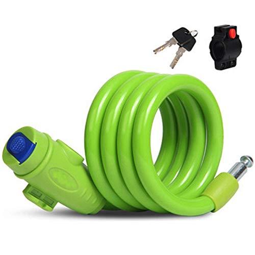 Fietsslot, 110Cm Anti-diefstal Veiligheid Fiets Touw Lock, Gebruikt om Fiets/Motorfiets/Elektrische Auto, Universele Fiets Apparatuur