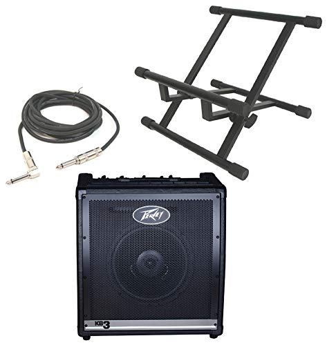 Lowest Price! Peavey KB3 Electronic Keyboard Combo 60W Amp 12 Speaker with Stand & 1/4 Jack Cable